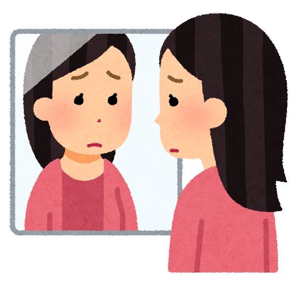 表情筋の衰えイメージ
